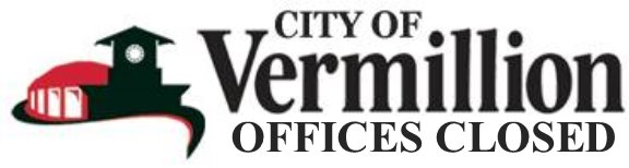 City of Vermillion: Offices Closed Logo