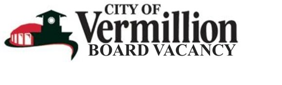 City of Vermillion Board Vacancy Logo