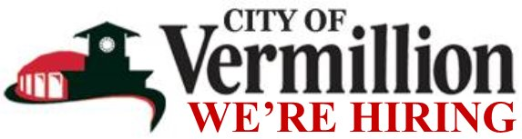 City of Vermillion: We're Hiring Logo