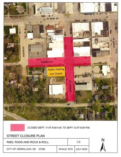 BBQ Event Street Closure Map
