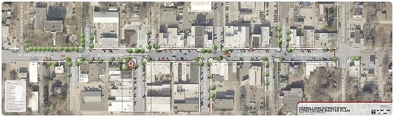 Artist Rendering of Downtown Proposed Streetscape
