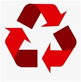 Red Recycling Symbol