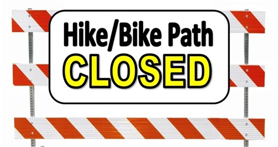 Bike Path Closed Sign