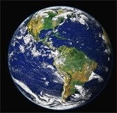 Earth Image - Black Background