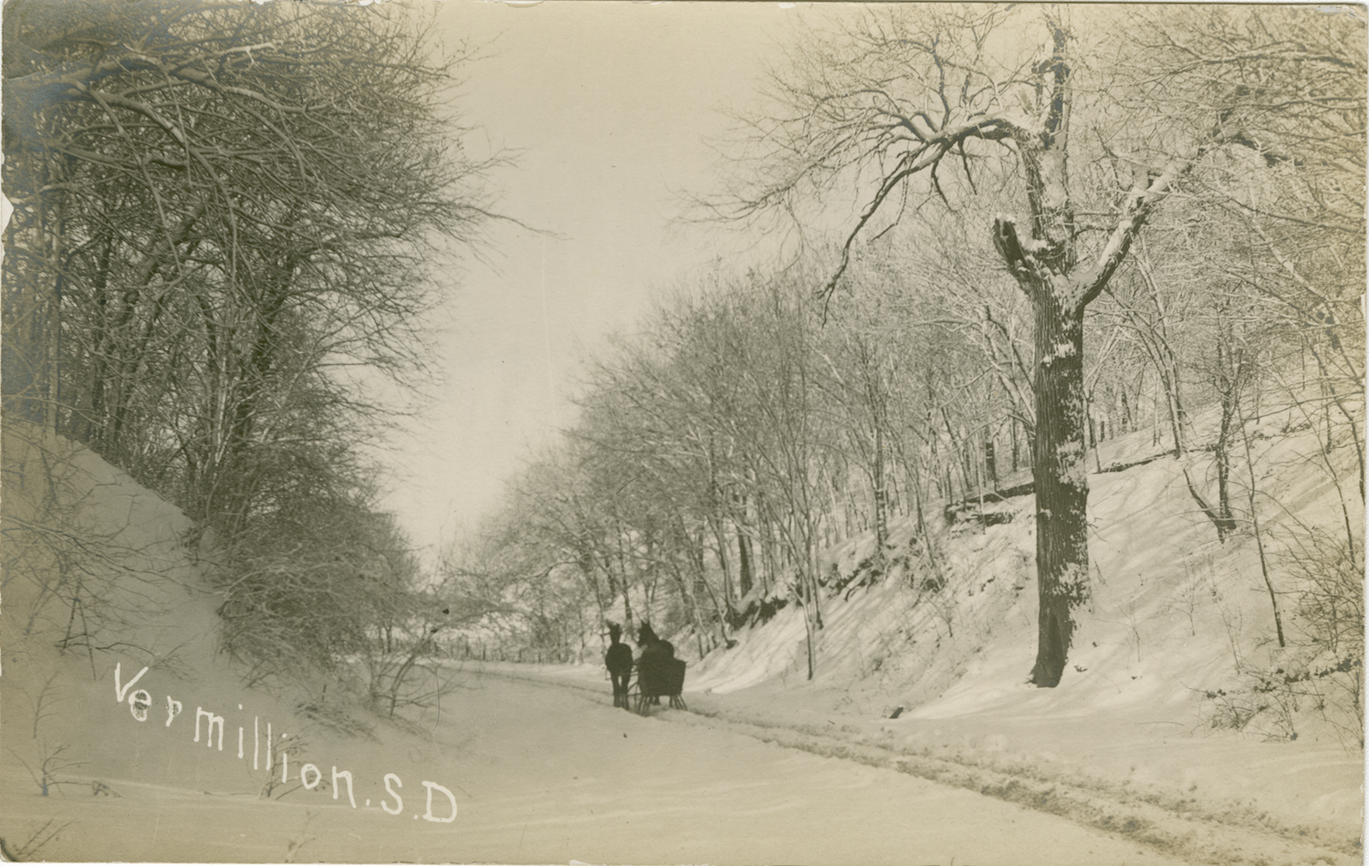 Vintage Photograph - S. Dakota Street in the winter