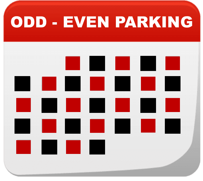 Winter Odd_Even Parking - Calendar Graphic